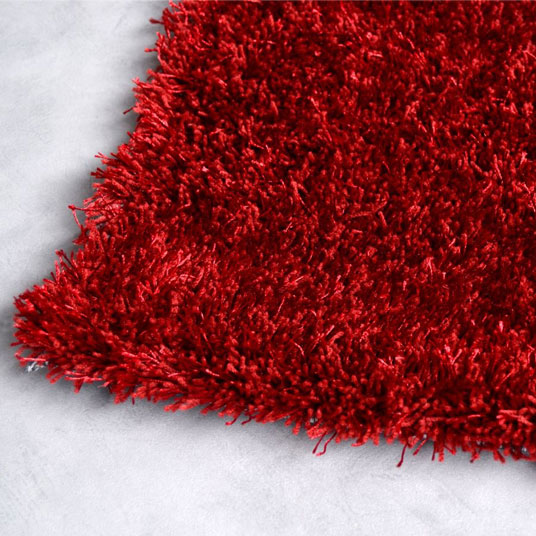 tapis sunny shaggy poils longs rouge. Black Bedroom Furniture Sets. Home Design Ideas
