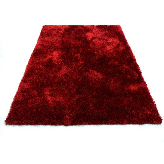 tapis sunny shaggy poils longs rouge. Black Bedroom Furniture Sets. Home Design Ideas