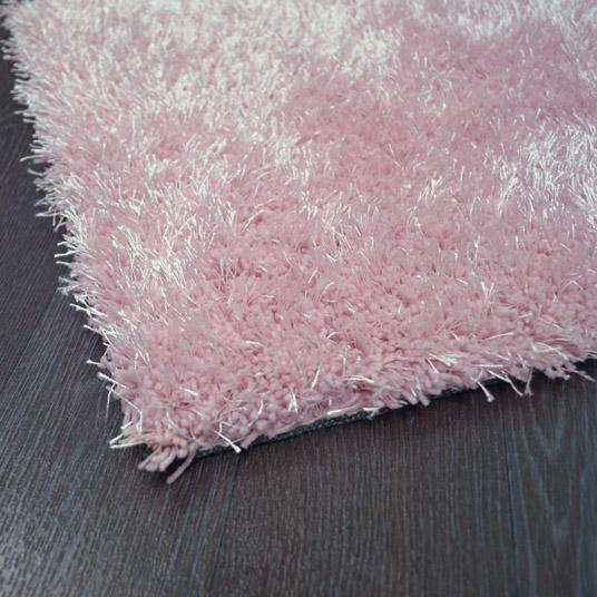 tapis sunny shaggy poils longs rose p le tapis shaggy