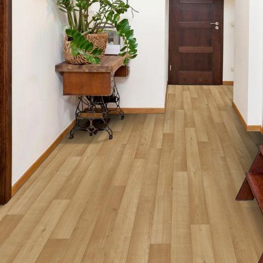 chute de sol pvc premium envers textile imitation parquet brun. Black Bedroom Furniture Sets. Home Design Ideas