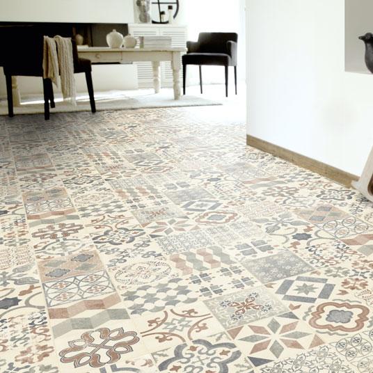 Lino Imitation Carreaux De Ciment