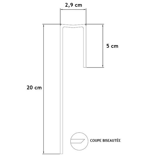 agrafe d'ancrage pour gazon synthétique - 20 cm à prix discount