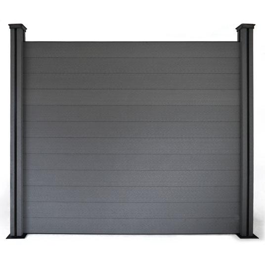 panneau occultant brise vue en composite gris prix discount. Black Bedroom Furniture Sets. Home Design Ideas