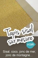 tapis sur mesure en moquette shaggy coco sisal jonc de mer. Black Bedroom Furniture Sets. Home Design Ideas