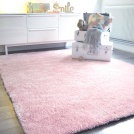 Visuel - Destockage Tapis Sunny Shaggy poils longs Rose pâle