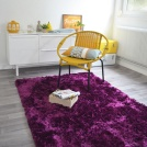 Déstockage Tapis Shaggy Pop poils longs violet
