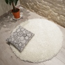 Tapis rond Softy Shaggy - Blanc