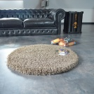 Tapis rond Sweety Shaggy - Taupe - Ø 150 cm