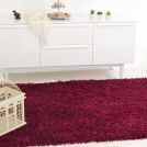 Visuel - Tapis Softy Shaggy - Prune