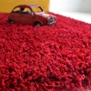 Moquette shaggy Softy - Rouge