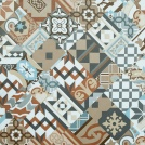 Visuel - Dalle sol PVC Clipsable Mix and Match - Click 5G - Carreaux de ciment patchwork terracotta
