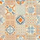 Visuel - Dalle PVC Clipsable - Tarkett Starfloor Click 30 - Retro Orange Blue - Carreaux de ciment