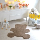Visuel - Tapis Enfant Nattiot - Ourson Little Teddy taupe - 80x100 cm