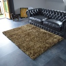 Tapis Shaggy Pop poils longs Marron