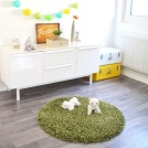 Tapis rond Softy Shaggy - Vert