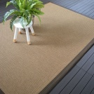 Tapis Samoa naturel ganse synthétique marron