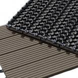 Dalles de terrasse en bois composite - Lame composite clipsable ...