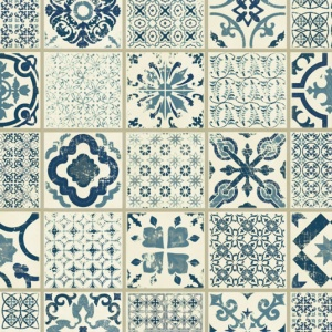 Dalle Pvc Clipsable Carreaux De Ciment Bleu Tarkett Starfloor Click 30 Retro Indigo