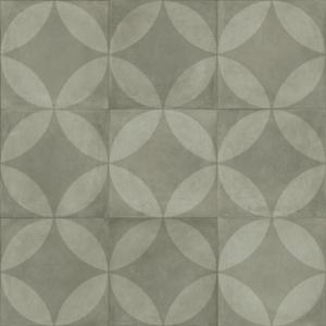 Sol Lino Carreaux De Ciment Motif Floral Gris