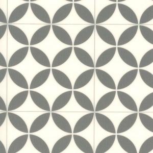 Chute de Sol Vinyle PVC Rénove - Imitation Carreaux de Ciment Rosace
