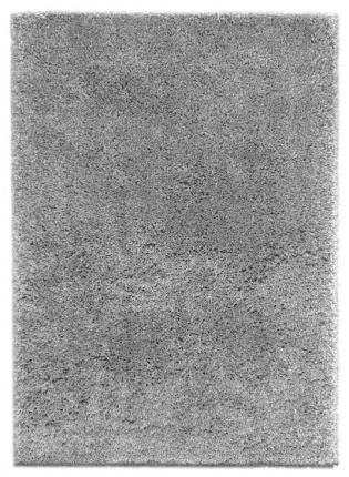 Tapis Flocon - Shaggy frisé à poils longs - Gris clair
