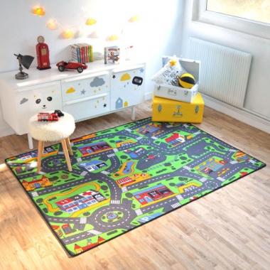 Tapis sur mesure tapis de jeu circuit voiture ville for Moquette circuit voiture