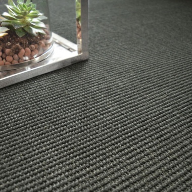 tapis sur mesure sisal yucatan noir. Black Bedroom Furniture Sets. Home Design Ideas