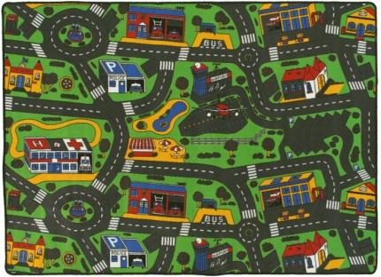 tapis circuit voiture ville 145x200 cm. Black Bedroom Furniture Sets. Home Design Ideas