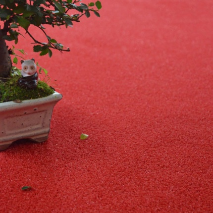 Gazon Sun Color Rouge - Classé feu - 7mm - Larg. 4m