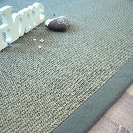 tapis sisal quintana gris ganse coton vert de gris 140 x 200 cm. Black Bedroom Furniture Sets. Home Design Ideas