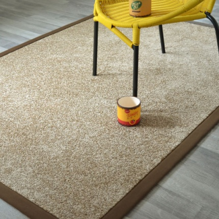 Tapis Bellaire marron glacé ganse coton marron