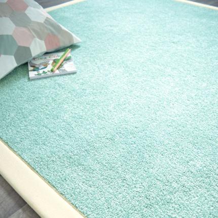 Tapis man ge bleu pastel ganse coton cru 140 x 200 cm - Tapis couleur pastel ...