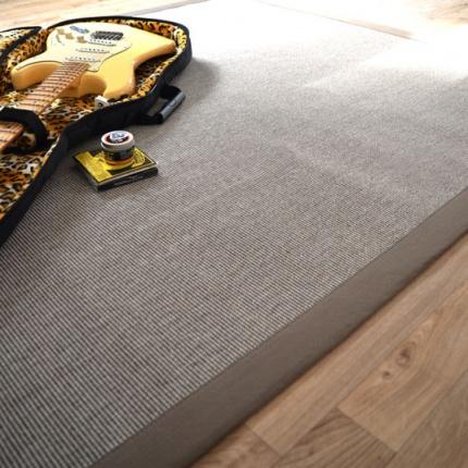 tapis mah silver ganse coton taupe tapis tiss plat prix discount. Black Bedroom Furniture Sets. Home Design Ideas