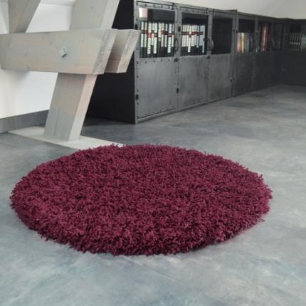 Tapis rond softy shaggy prune tous les tapis d co prix discount - Tapis a prix discount ...