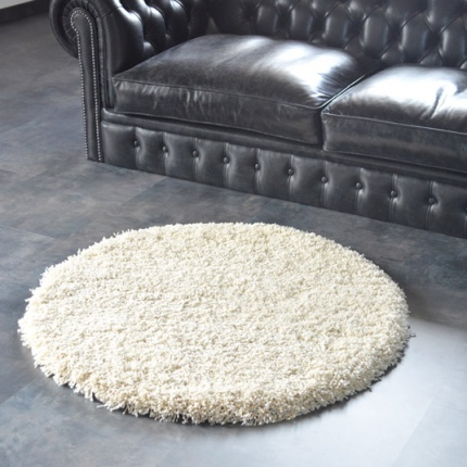 tapis rond sweety shaggy cr me 150 cm tapis shaggy poils longs acheter en ligne. Black Bedroom Furniture Sets. Home Design Ideas