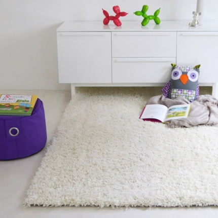 Déstockage Tapis Softy Shaggy - Blanc