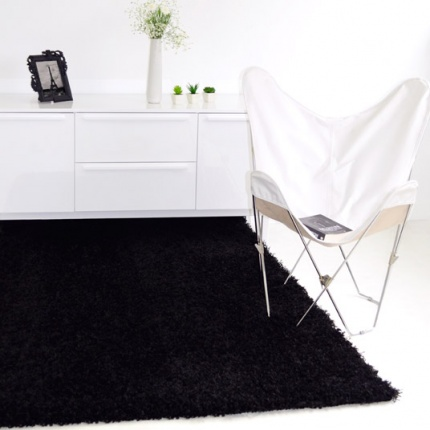Déstockage Tapis Softy Shaggy - Noir