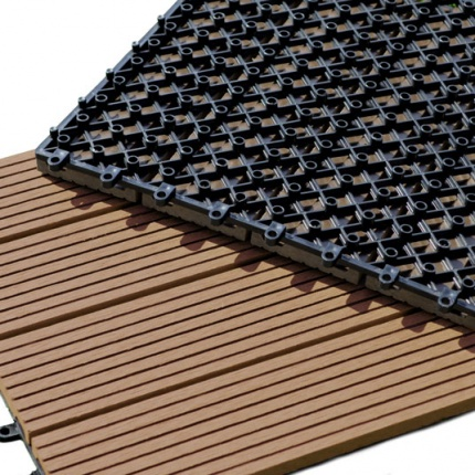 Dalle Terrasse Composite clipsable - Brun Exotique