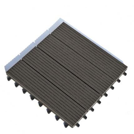 Dalle terrasse composite clipsable brun fonc 30 x 30 cm - Dalle terrasse clipsable ...