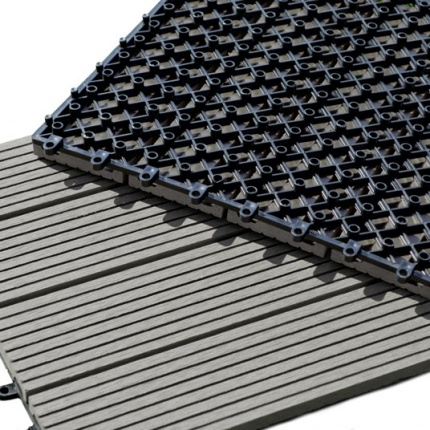 Dalle terrasse composite clipsable gris - Dalle de terrasse composite clipsable ...