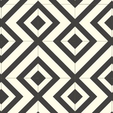 Sol Vinyle Style Imitation Carrelage Losange Larg 4m