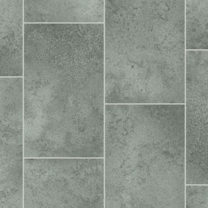 sol vinyle style imitation carrelage gris larg 4m. Black Bedroom Furniture Sets. Home Design Ideas