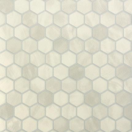 sol vinyle imitation tomette hexagone grise larg 4m. Black Bedroom Furniture Sets. Home Design Ideas