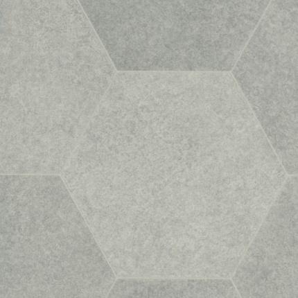 sol vinyle pvc r nove imitation carrelage hexagonal gris larg 4m. Black Bedroom Furniture Sets. Home Design Ideas