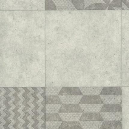 sol vinyle pvc r nove imitation carreaux de ciment gris larg 4m. Black Bedroom Furniture Sets. Home Design Ideas