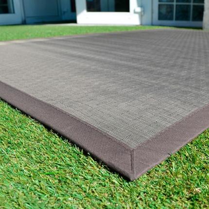 tapis ext rieur pvc tress taupe tapis ext rieur. Black Bedroom Furniture Sets. Home Design Ideas