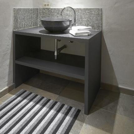 tapis pvc entree couloir salle de bain terrasse With porte d entrée alu avec tapis salle de bain rouge et gris