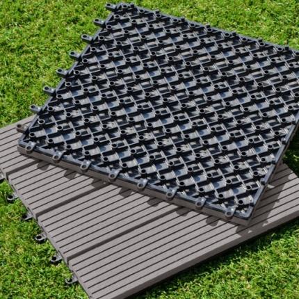 Dalle terrasse composite gris 30 x 30 cm dalles for Epaisseur dalle terrasse
