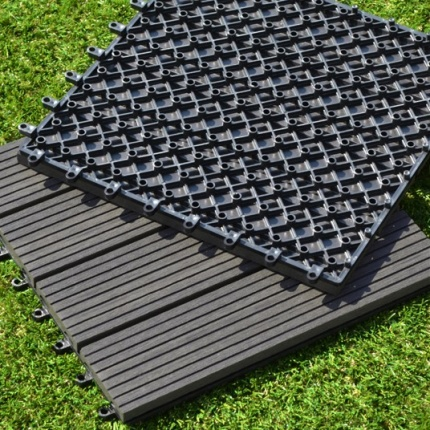 Dalle terrasse composite brun fonc 30 x 30 cm dalles terrasse composit - Dalles terrasse composite ...