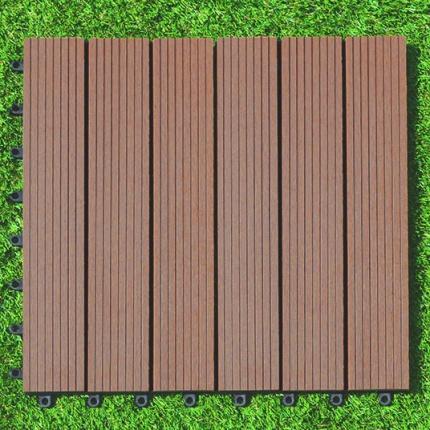 Dalle terrasse composite clipsable brun exotique 45 x 45 cm dalles terr - Dalle terrasse composite 50x50 ...